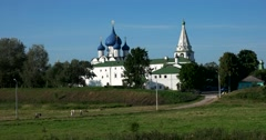 The Golden ring of Russia.Kremlin. Suzdal Stock Footage