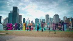 BRISBANE, AUSTRALIA - The Brisbane Sign Stock Footage