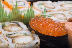 assortment sushi - stock photo