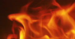 Close up flames in a fireplace in slow motion Stock Footage