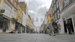 South Molton Street shoppers, London, UK Stock Footage