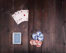 Old vintage poker Kuvituskuvat