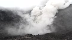 Mount Bromo active volcano and part of the Tengger massif, Indonesia. Stock Footage