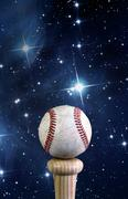 Baseball and the universe. Stock Photos