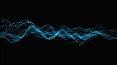 Colourful Wave form article in random direction abstract background animation - stock footage