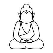 Buddha icon. Indian Culture design. Vector graphic Stock Illustration