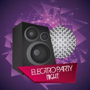 Speaker icon. Electro Party design. Vector graphic - stock illustration