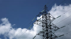 Energy Transmission Lines  Stock Footage