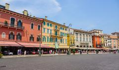 The historic city center of Verona Italy - VERONA, ITALY - JUNE 30, 2016 - stock photo
