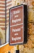 Scala della Ragione in Verona - VERONA, ITALY - JUNE 30, 2016 - stock photo