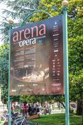 Opera Festival at the Arena di Verona - VERONA, ITALY - JUNE 30, 2016 - stock photo