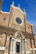 Basilica Santi e Giovanni e Paolo in Venice - VENICE, ITALY - JUNE 29, 2016 Stock Photos