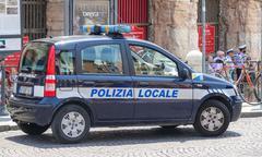 Police Car in Verona Italy - VERONA, ITALY - JUNE 30, 2016 - stock photo