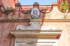 Police Office in the historic district of Venice - stock photo
