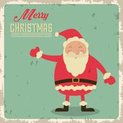 Santa icon. Merry Christmas design. Vector graphic Stock Illustration