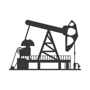 Oil pump icon. Oil industry concept. Vector graphic - stock illustration