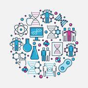 DNA and genetics illustration - stock illustration