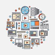Video production concept illustration Stock Illustration
