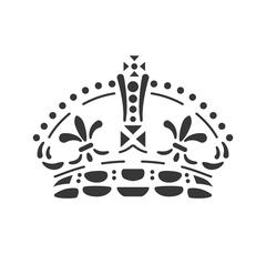 Crown icon. Royalty design. Vector graphic - stock illustration