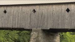 Putney, VT Covered Bridge Stock Footage