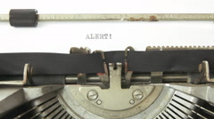 Typewriter alert Stock Footage