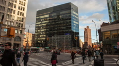 Astor Place Time Lapse Stock Footage