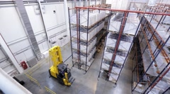 Shelves with Boxes in a Warehouse Stock Footage