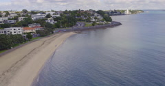 Aerial of st heliers bay, Auckland New Zealand Stock Footage