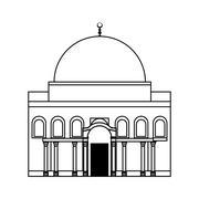 Temple icon. Israel culture design. Vector graphic Stock Illustration
