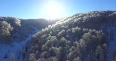Beautiful aerial view from the great high of the snowy Altai mountains. Stock Footage