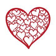 Heart shape icon. Love concept. Vector graphic - stock illustration