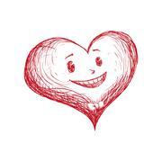 Heart shape icon. Love concept. Vector graphic Stock Illustration