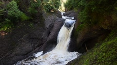 Gorge Falls, Ottawa National Forest, Michigan Stock Footage