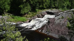 Conglomerate Falls, Ottawa National Forest, Michigan Stock Footage