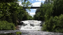 Agate Falls, Agate Falls State Scenic Area, Michigan - stock footage