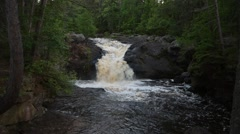 Upper Amnicon Falls, Amnicon State Park, Wisconsin Stock Footage