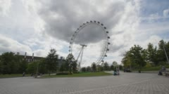 Time Lapse of Millennium wheel London Eye in Central London Stock Footage