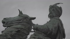 The Monument To Bogdan Khmelnitsky. Kiev (Kyiv) . Ukraine. Close-up Stock Footage