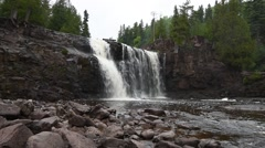 Lower Gooseberry Falls, Gooseberry Falls State Park, Minnesota Stock Footage