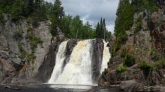 High Falls, Tettegouche State Park, Minnesota - stock footage