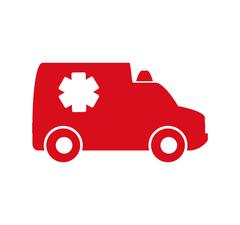 Ambulance icon. Medical and Health care. Vector graphic - stock illustration