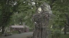Kiev, Ukraine. The monument on the street Stock Footage