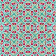 Love Motif Seamless Pattern Mosaic Stock Illustration