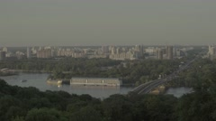 Kiev (Kyiv) . Ukraine. View of the left Bank of the city Stock Footage
