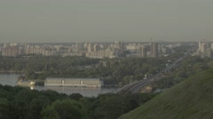Kiev (Kyiv) in the summer. Left Bank of the city. Ukraine Stock Footage