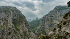 Picos de Europa Moutain Landscape & Clouds Timelapse 4K Stock Footage