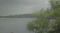 The Dnieper river in the summer. Ukraine. Kiev (Kyiv). Landscape Stock Footage