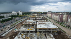 Construction area. 4K time lapse - stock footage
