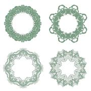 Vector Set of Baroque Lace Frame Stock Illustration