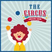 Clown icon. Circus and Carnival design. Vector graphic Stock Illustration